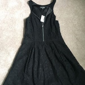 NWT - Express brand LBD with lace overlay